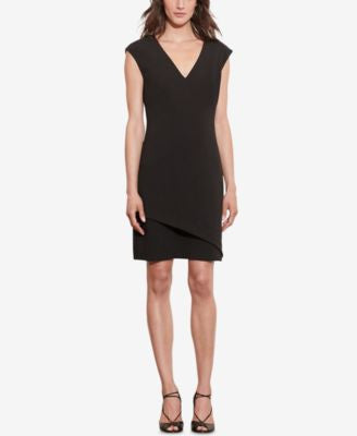 Lauren Ralph Lauren Petite Stretch Crepe V-Neck Dress