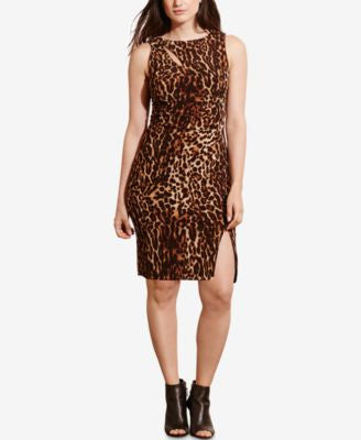 Lauren Ralph Lauren Plus Size Ocelot-Print Jersey Dress
