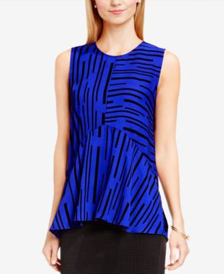 Vince Camuto Mixed-Stripe Top