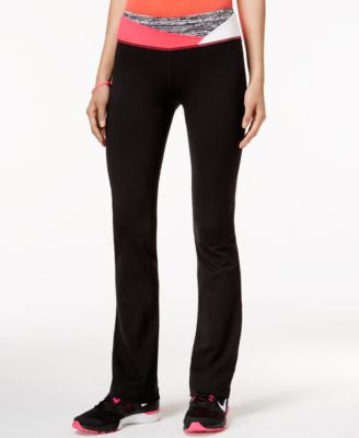 Material Girl Active Printed-Waist Yoga Pants, Only at Vogily