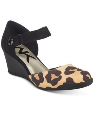 Anne Klein Tasha Ankle-Strap Wedge Pumps