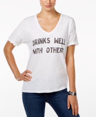 Retro Brand Drinks Well with Others Graphic T-Shirt