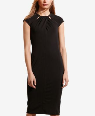 Lauren Ralph Lauren Cutout-Neckline Jersey Dress