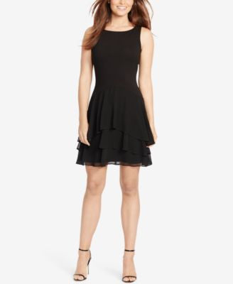American Living Tiered Fit & Flare Dress