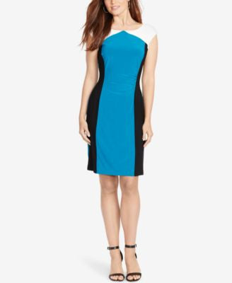 American Living Colorblocked Sheath Dress