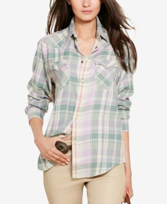 Polo Ralph Lauren Relaxed-Fit Plaid Shirt