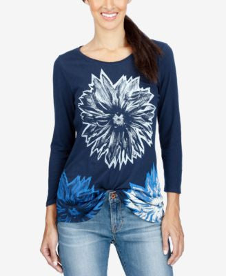 Lucky Brand Floral Graphic Top