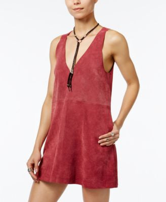 Free People Retro Love Suede Shift Dress