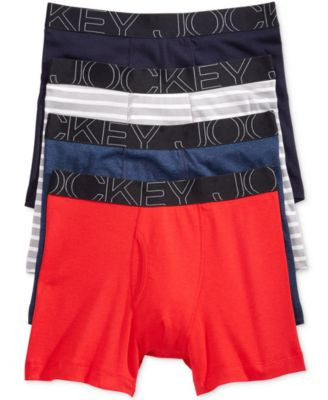 Jockey Men's 4-Pk. Low-Rise Boxer Briefs