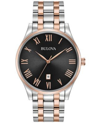 Bulova Men's Two-Tone Stainless Steel Bracelet Watch 40mm 98B279