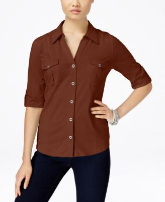 Style & Co. Petite Utility Shirt, Only at Vogily
