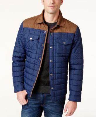Tasso Elba Quilted Colorblocked Jacket, Only at Vogily