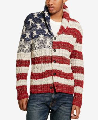 Denim & Supply Ralph Lauren Men's Graphic-Print Cardigan