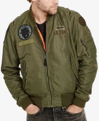 Denim & Supply Ralph Lauren Men's Slim Reversible Bomber Jacket