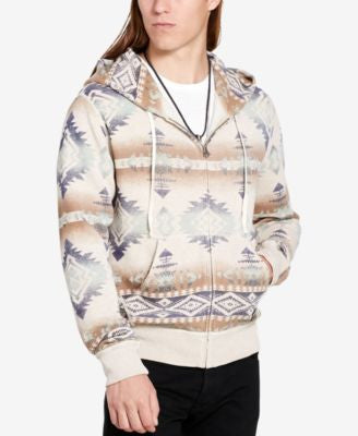 Denim & Supply Ralph Lauren Men's Southwestern-Print Terry Hoodie