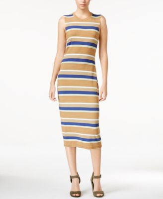 RACHEL Rachel Roy Striped T-Shirt Midi Dress
