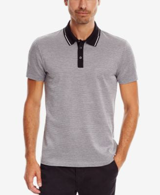 BOSS Men's Slim-Fit Patterned Mercerized Polo