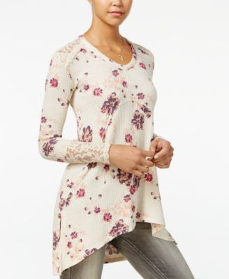 American Rag Printed Waffle-Knit High-Low Tunic, Only at Vogily