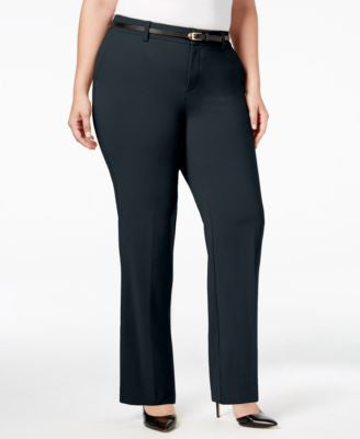 Charter Club Plus Size Tummy-Control Trousers, Only at Vogily