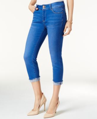 Nanette by Nanette Lepore Madison Azalea Bright Blue Wash Capri Jeans