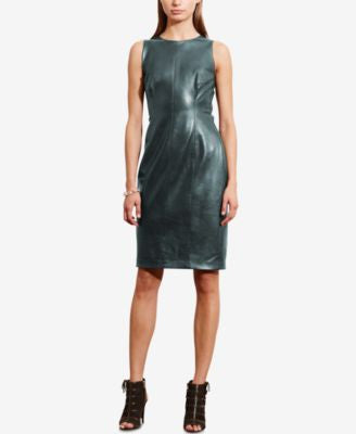 Lauren Ralph Lauren Faux-Leather Sheath Dress