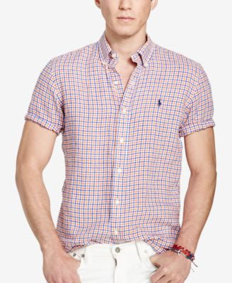 Polo Ralph Lauren Men's Men's Short-Sleeve Checked Shirt