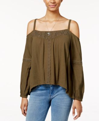 Jessica Simpson Cold-Shoulder Peasant Top