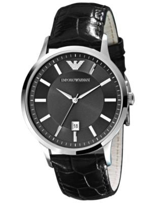 Emporio Armani Watch, Men's Brown Leather Strap AR2413
