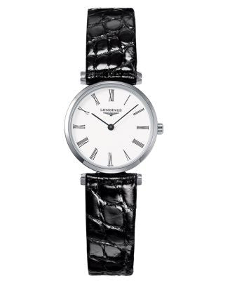 Longines Watch, Women's Black Alligator Strap L42094112