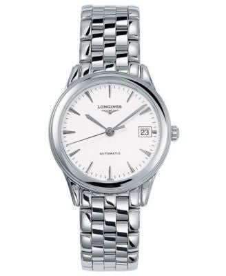Longines Watch, Men's Stainless Steel Bracelet L47744126
