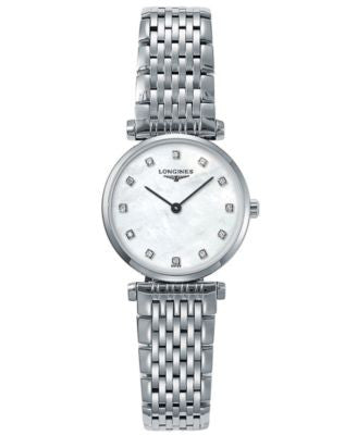 Longines Watch, Women's Stainless Steel Bracelet L42094876