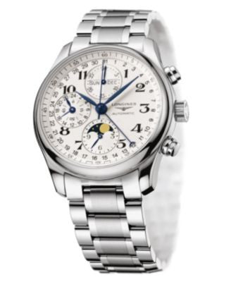 Longines Watch, Men's Silver-Tone Stainless Steel Bracelet L26734786