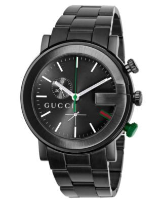 Gucci Watch, Unisex G Chrono Collection Black Stainless Steel Bracelet 44mm YA101331