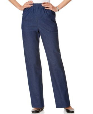 Alfred Dunner Petite Pull-On Denim Pants