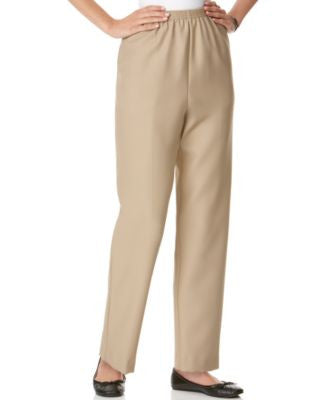 Alfred Dunner Textured Pull-On Straight-Leg Pants