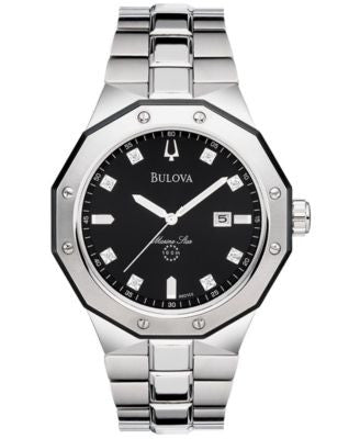Bulova Men's Stainless Steel Bracelet Watch 44mm 98D103
