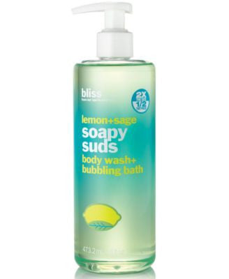 Bliss Lemon+Sage Soapy Suds, 16 oz.
