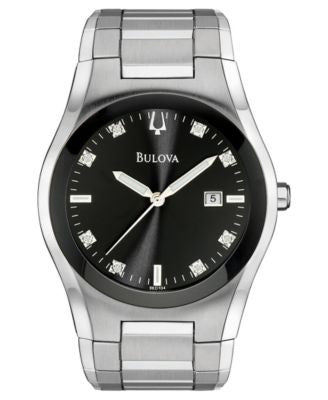 Bulova Men's Stainless Steel Bracelet Watch 40mm 96D104