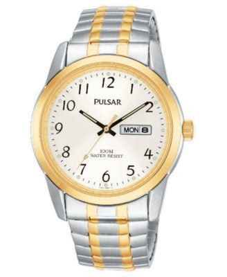 Pulsar Watch, Men's Two Tone Stainless Steel Bracelet PJ6052