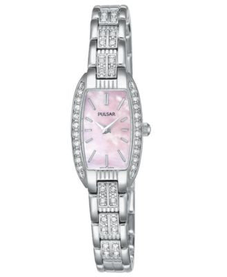 Pulsar Watch, Women's Crystal Accented Stainless Steel Bracelet PEG987