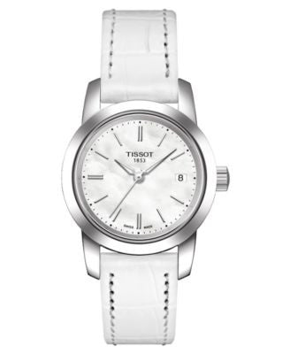 Tissot Watch, Women's White Leather Strap T0332101611100