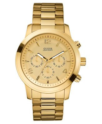 GUESS Watch, Men's Chronograph Gold-Tone Stainless Steel 45mm U15061G2