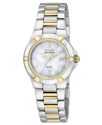 Citizen Women's Eco-Drive Two-Tone Stainless Steel Bracelet Watch 26mm EW1534-57D