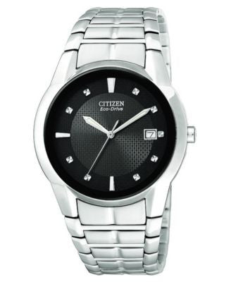 Citizen Men's Eco-Drive Stainless Steel Bracelet Watch 37mm BM6670-56E