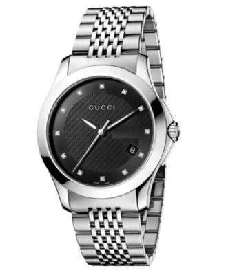Gucci Watch, Unisex Swiss Stainless Steel Bracelet 38mm YA126405