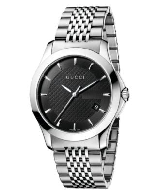 Gucci Watch, Unisex Swiss Stainless Steel Bracelet 38mm YA126402