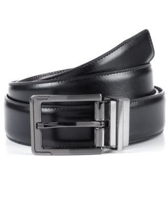 Perry Ellis Men's Big and Tall Reversible Leather Dress Belt