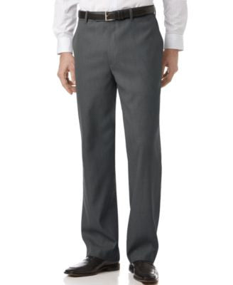 Perry Ellis Portfolio Big and Tall Classic-Fit Sharkskin Dress Pants