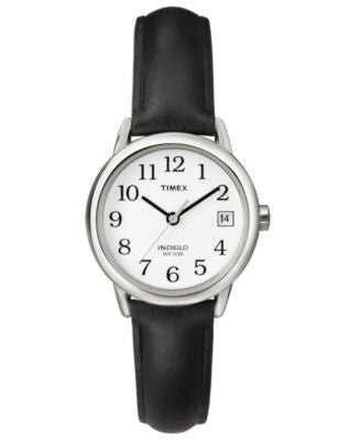Timex Watch, Women's Black Leather Strap 25MM T2H331UM