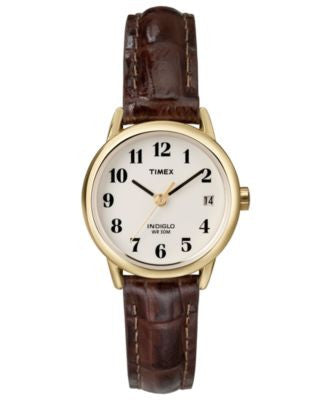 Timex Watch, Women's Brown Leather Strap 25MM T20071UM